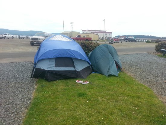 Harborview Inn & RV Park: These were our two tents that were not allowed