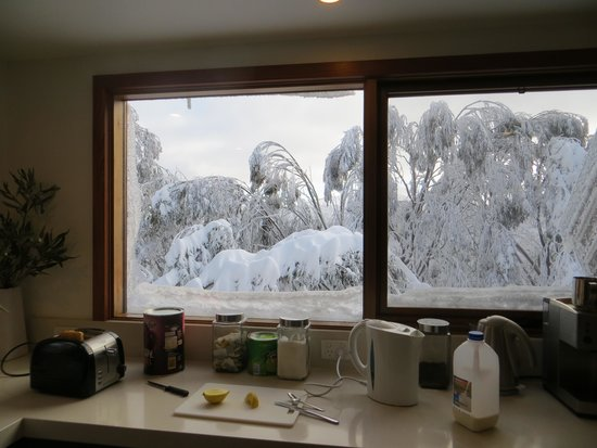 Chorki Ski Lodge: View from kitchen window