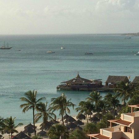 Hyatt Regency Aruba Resort and Casino: Beautiful view from a partial view room