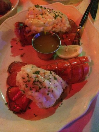 Ocean Grill Restaurant : Two lobster tail special ��