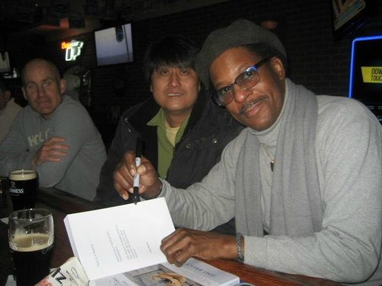 Me at a signing of my memoir book at Rollin Greens 2/2014