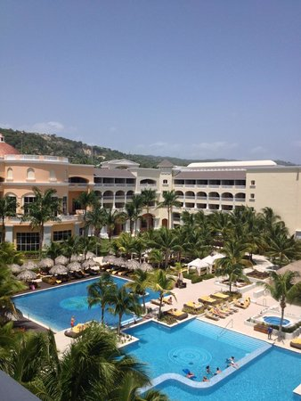 Iberostar Grand Hotel Rose Hall: View of hotel and pools from balcony