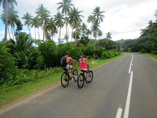 Koro Sun Resort and Rainforest Spa: Biking the Hibiscus Hwy