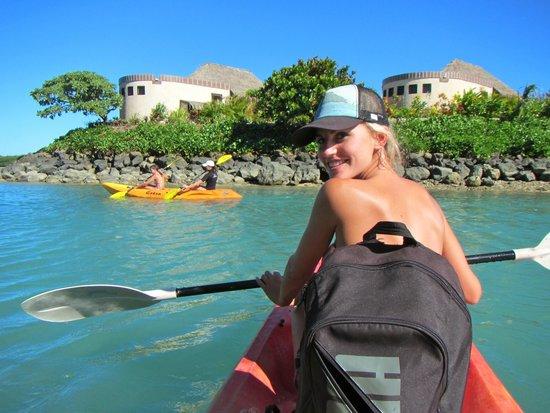 Koro Sun Resort and Rainforest Spa: Kayak to Bat island