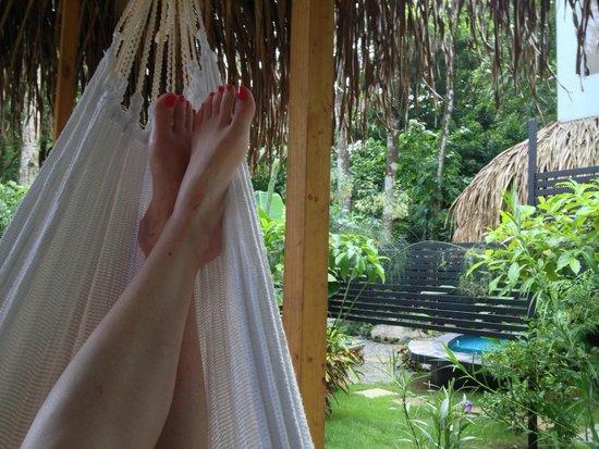 Espadilla Ocean Club : The hammock, our favorite spot!