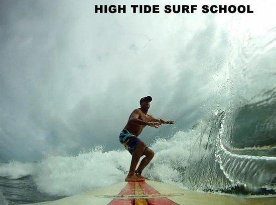 High tide surf school: Playa Grande