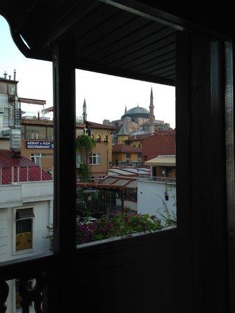 GLK PREMIER Acropol Suites & Spa: View from our 4th floor 'Junior Suite' balcony (Best Western Premiere Acropol Suites)