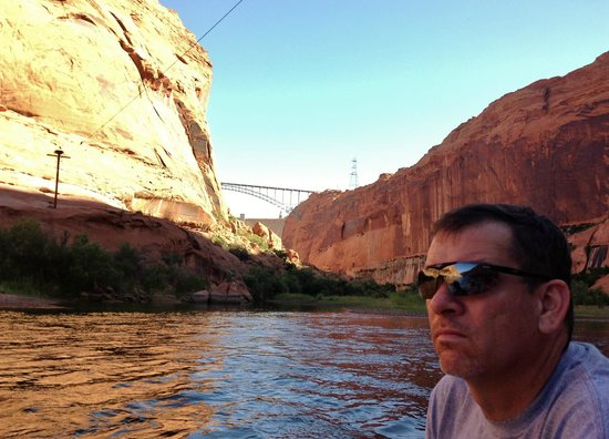 Colorado River Discovery : Glen Canyon Dam where boat trip begins