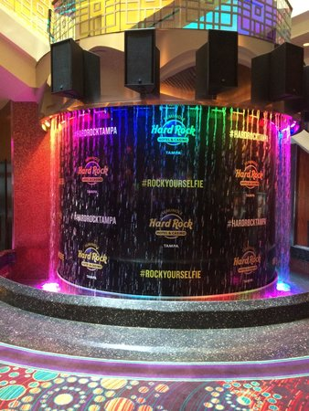 Hard Rock Cafe Tampa: Just in case you get confused as to where you are amongst the slots there are helpful reminders
