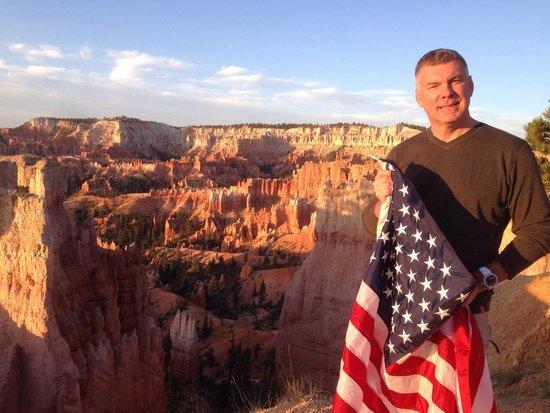 Bryce Canyon Lodge: Bryce Canyon at sunrise July 4th