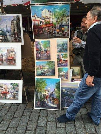 Place du Tertre: Street art