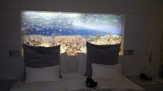 Paradisus Playa del Carmen La Perla : Background behind king bed