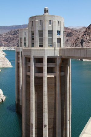 Hoover Dam: View from the top of the dam