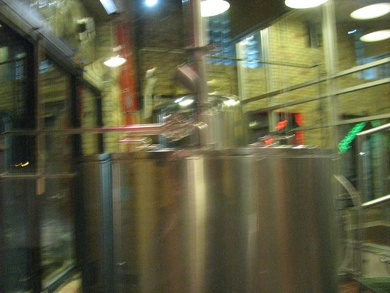 North Peak Brewing Company: Brewing equipment on site.