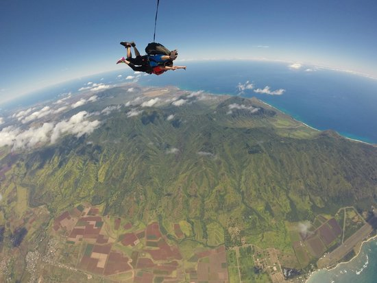 Pacific Skydiving Center: Magnificent view of the North Shore!