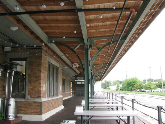 The Filling Station: It is an old railroad depot.  Love the reuse of the building.