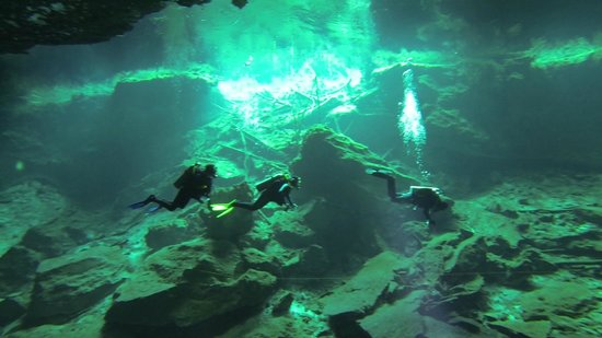 Playa Scuba Dive Center: Chac mool green