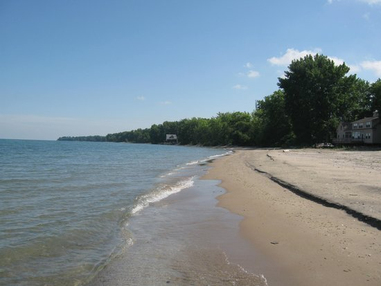 Wavecrest Bed and Breakfast  on Pelee Island: The private beach