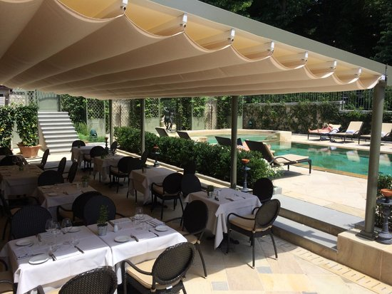 Ville sull'Arno Hotel : terrace for breakfast by pool