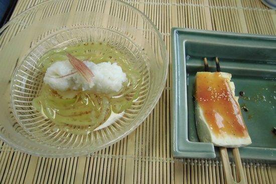 Chikuden Saryo : 季節を感じます。はも+なすび料理