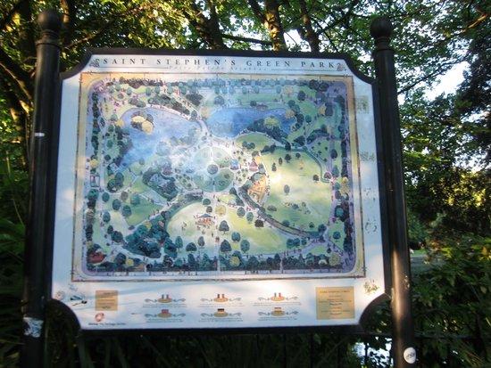 Parque St Stephen's Green: Park map