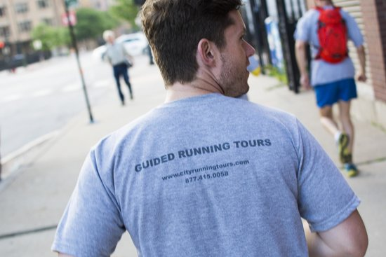 City Running Tours-Chicago: Our lovely guide Joey pointing out the sights