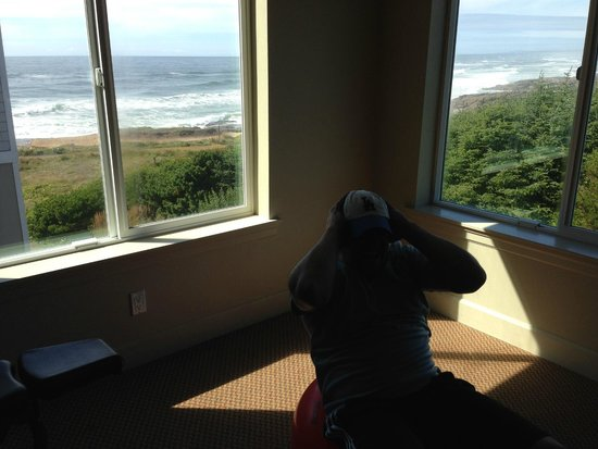 Overleaf Lodge & Spa : View from exercise room