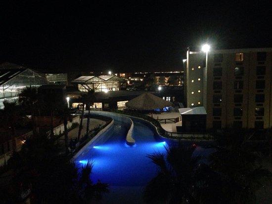 Schlitterbahn Beach Waterpark: From top of the hotel.