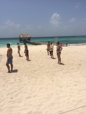 Azul Beach Resort The Fives Playa Del Carmen: We played sand volleyball everyday, multiple times a day with our friends on staff & that we mad