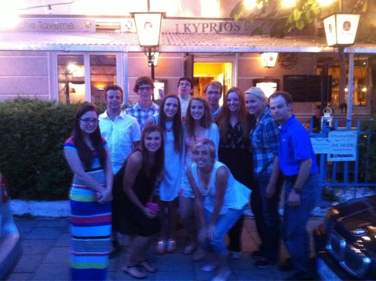 Last night in Germany for our group. Kyprios was very gemütlich!