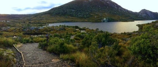 Dove Lake Circuit: Very scenic view as we climbed