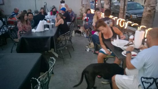 Bulls Smokin' BBQ: dog friendly outside eating area