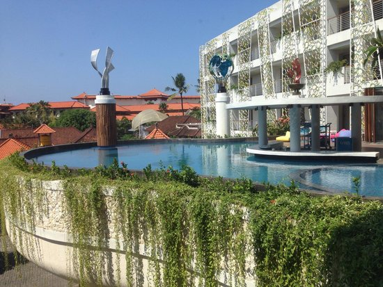 Ion Bali Benoa Hotel : View from my room, loved staying on the same level as the pool :)