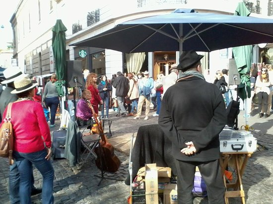 San Telmo: pausa no show de tango