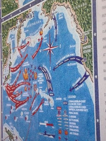 National Memorial Cemetery of the Pacific: 10 Ft. scagliola maps