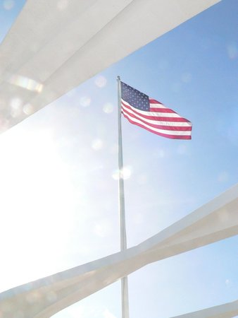 USS Arizona Memorial/WW II Valor in the Pacific National Monument : Our Flag