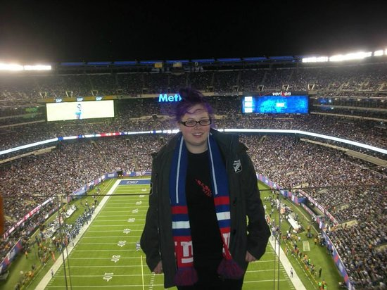 "MetLife Stadium: ""Look Dad I'm at the American footy game"""