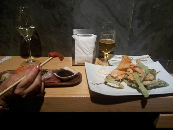 Uasabi : Tempura y sashimi