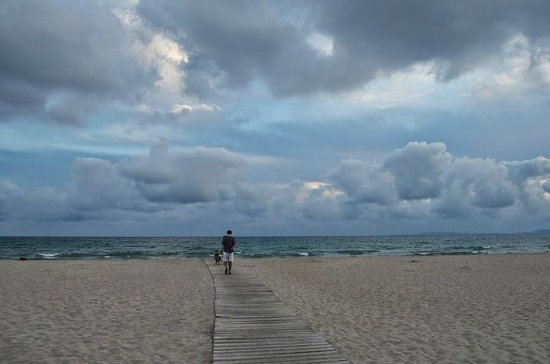 HSM Golden Playa: Beach on a cloudy evening