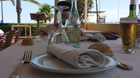 Malvarrosa Beach Rooms: Ristorante del Hotel