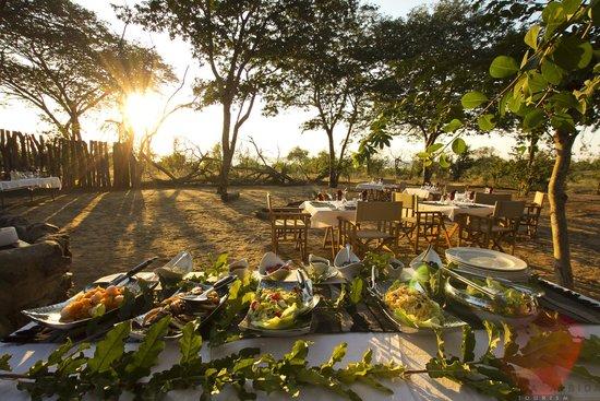 Boma bush dinner at Ngoma Safari Lodge