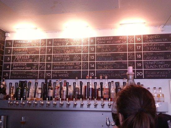 Mikkeller Bar: La lavagna delle birre