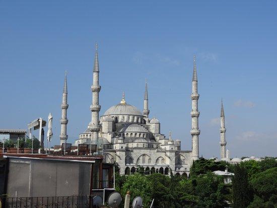 Uyan Hotel: 屋上テラスからのブルーモスク