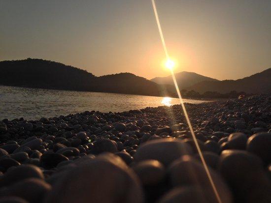 Oyster Residences : Sonnenuntergang am Strand
