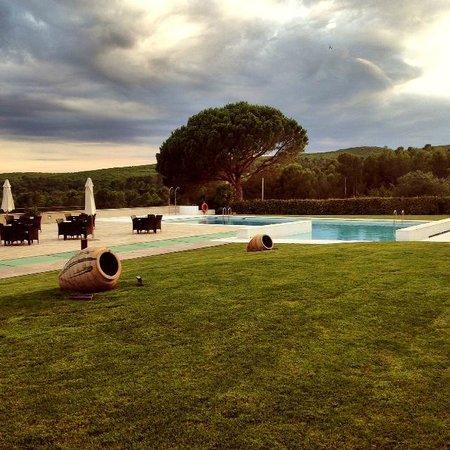 Hotel Albons: Zona jardin y piscina