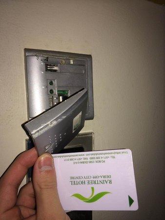 Raintree Hotel, Deira City Centre: Card holder falling apart