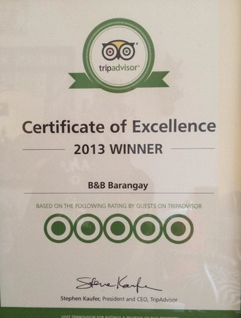 B&B Barangay: One of our awards