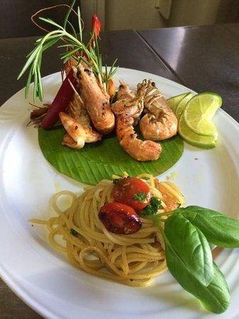 Al barolo cuxhaven: Gambas-Langoustini ,Spaghetti Aglio Olio.Ein muss