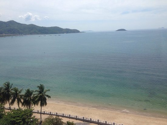 VDB Nha Trang Hotel : Opening the curtains to this in the morning kick started my day. Fabulous hotel. Great service
