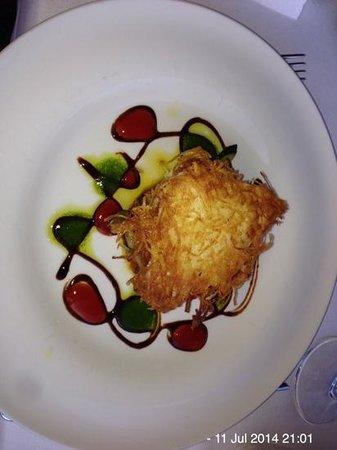 Hotel Metropole Bellagio: Sea bass in potato crust ( best ever!)